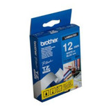 Brother TZe-535 / 12mm White Text On Blue Laminated Labelling Tape - 8 Metres